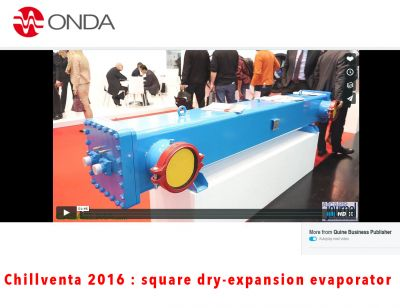 Video Chillventa 2016 : evaporatore a sezione quadra