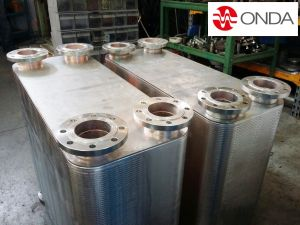 Brazed plate with flanges DN80