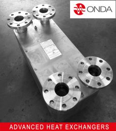 Brazed plate with flanges DN100