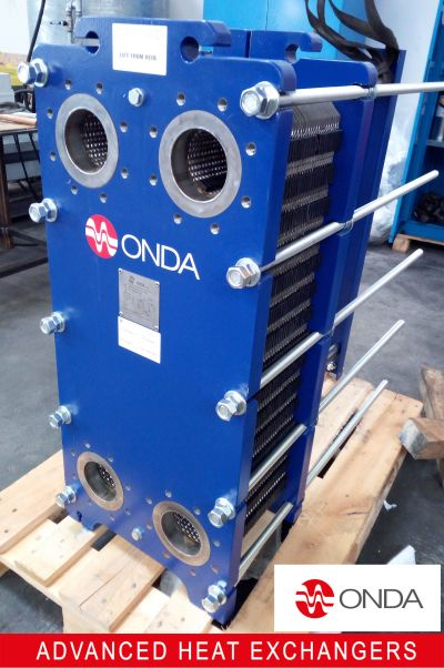 Steam plate and frame heat exchanger.